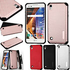 For LG Tribute HD LS676 Mat Weave Hybrid Dual Layered Case Phone Cover