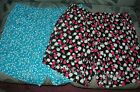 Lane Bryant Rayon Soft Shorts Blue Print or Red, White & Black Floral choose