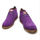 Mens lace up retro suede casual oxford Brogue ankle Chelsea desert boots Shoes