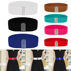 Fashion Women Buckle Wide Stretch Elastic Corset Colors Waist Belt Waistband