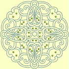CELTIC QUILT CIRCLE SINGLES -Design 12- from Anemone Machine Embroidery-4 SIZES