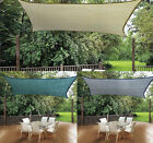 13×10FT Outdoor Patio Rectangle Sun Sail Shade Cover Canopy Top Awning Shelter