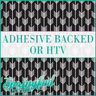 Black & White Arrows Pattern #1 Adhesive Vinyl or HTV for Crafts Shirts