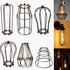 Vintage Metal Pendant Chandelier Trouble Light Guard Wire Cage Ceiling Lampshade