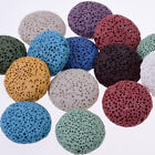 Flat Lava beads Necklace Accessories 20mm 1.2mm hole mixed color 10pcs/lot