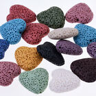 Lava Beads Heart Shaped DIY Jewelry 20*21mm 1.2mm hole mixed color 10pcs/lot