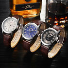 Fashion Boy Leather Quartz Watch Silver Plated Waterproof Party Wristwatch