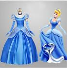 SHIPS FAST! Ladies Adult Women Cinderella Princess Cosplay Costume Fancy Dress