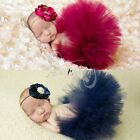 Toddler Baby Girl Tutu Skirt with Flower Headband Photo Props Outfit Set Costume