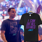 """Curry T-shirt Warriors Basketball Round Neck Cotton T-shirt """"I can do all things"""