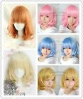 Hot Promotion  Medium FIVE color Mix Curly Cosplay BOB Wavy Wig