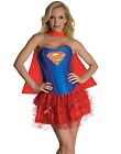 Sexy Super Hero Supergirl Superman Corset, Skirt Adult Halloween Costume XS-L