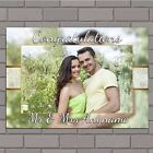 Personalised Congratulations Wedding Engagement PHOTO Poster Print Banner N152