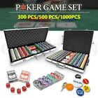 Multi Chip Poker Set Game Play Casino Size Dice Gamble Aluminium Carry Case