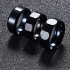 3 Styles New Mens Black Stainless Steel Jewelry Party Charm Size 17-21 Ring