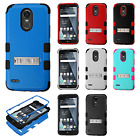 For LG Stylo 3 Rubber IMPACT TUFF Hybrid KICKSTAND Case Cover + Screen Guard