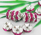 100pcs crystal&silver plated spacer 8mm