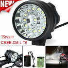45000LM 15x T6 LED 3 Modes Bicycle Lamp Bike Light Headlight Cycling Torch lot
