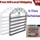 6-Tiers Wrought Iron Nail Polish Wall Display Organizer Stand Comestic Rack DHQ