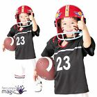 Boys Childs American Football Player USA Quarterback Fancy Dress Costume Outfit