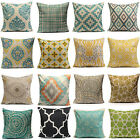 HOME DECOR GEOMETRIC FLOWER COTTON LINEN THROW PILLOW CASE CUSHION COVER MYSTERY