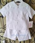 Boys SIR JOHN boutique sailor suit 12M 24M 2T NWT white outfit beach photos