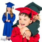 Childs Boys Girls Graduation Gown Robe And Mortar Board Hat Fancy Dress Costume