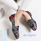 Comfort Women Lady Flat Heel Loafers Shoes Pump Embroidery Shoes Pointy Toe#