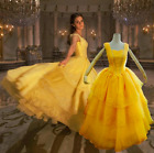 Adult Beauty The Beast Princess Belle Costplay Party dress Costume Ball Gown