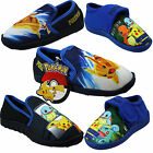 Boys Official Pokemon Pikachu Easy Fastening  / Slip On Kids Slippers