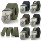 Men's Fashion Outdoor Sports Casual Military Tactical Waistband Canvas Web Belt