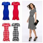 Elegant Women Casual Office Formal Business Work Party Tunic Pencil Mini Dress