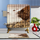 """72x72""""Nature Scenery Polyester Fabric Shower Curtain Bathroom Mat 12Hook 1141"""