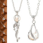 Women's Oyster Drop Pendant Jewelry Gift Love Wish Pearl Necklace Set