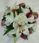 wedding flowers posy TABLE CENTRE many colours ROSES AND LILIES