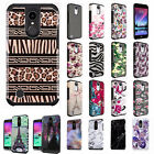 For LG K20 Plus HARD Hybrid Rubber Silicone Case Phone Cover Accessory
