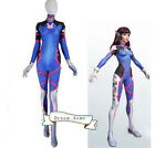 US SHIP Halloween Costume Game OW DVA Costume Cosplay Party Zentai Cos Jumpsuits
