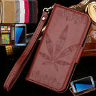 Maple Pattern Wallet Leather Case For Samsung Galaxy Series Phone S5 6 7 8 A3 5