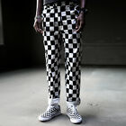 ByTheR Black & White Checker Board Trendy Loose Urban Casual Waist Band Pants