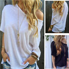 Women Fashion Off Shoulder T-shirt Casual Short Sleeves Blouse Loose Tee Tops