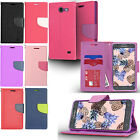Samsung Galaxy J7 PERX J7V Leather Wallet Case Pouch Flip Cover + Screen Guard