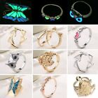 Modish Glow In The Dark Turtle Butterfly Heart Ring Luminous Women Lady Jewelry