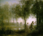 Classic Greek Mythology art print, Orpheus and Eurydice by Jean B. C. Corot