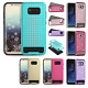 For Samsung Galaxy S8 / S8 PLUS Hybrid IMPACT Diamond Layered Case +Screen Guard