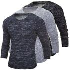 INCERUN Autumn Winter Mens Casual Shirts Long Sleeve Round Neck Top Tee T-Shirt
