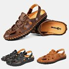 Pop Men Sandals Summer Closed Toe Anti-Slip Beach Shoes Outdoor Leisure Slippers