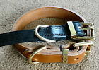 "Leather Dog Collar 1.1/4"" wide Wider Collar for Stronger Dogs Shutzhund A1*"