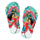 ELENA AVALOR DISNEY PRINCESS Flip Flops Beach Sandals w/ Optional Sunglasses NWT
