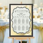 Personalised Wedding Table Seating Plan Names Numbers N154 Large A1 A2 A3 Print