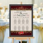 Personalised Wedding Table Seating Plan Names Numbers N158 Large A1 A2 A3 Print